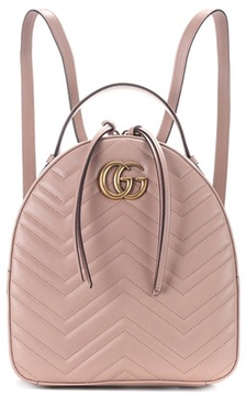 Gucci GG Marmont matelassé leather backpack - PINK - STYLE