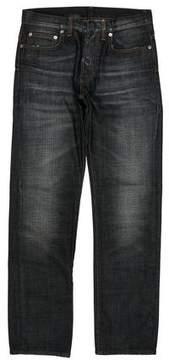 Christian Dior Distressed Five Pocket Slim Jeans
