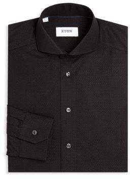 Eton Mini Dots Cotton Dress Shirt