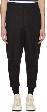 Ami Alexandre Mattiussi SSENSE Exclusive Black Oversized Carrot Trousers