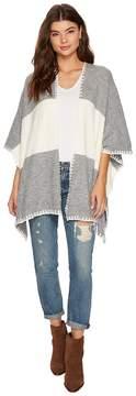 Bishop + Young Two-Tone Shawl Women's Sweater
