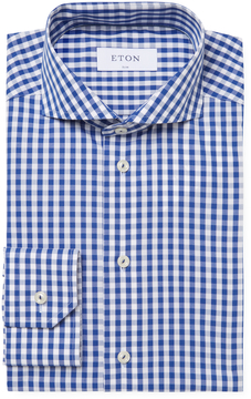 Eton Men's Check Slim Fit Dress Shirt