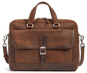 Frye Men's Oliver Leather Briefcase - Brown