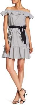 Nine West Off Shoulder Ruffle Dress