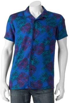 Marc Anthony Men's Slim-Fit Tropical Button-Down Shirt