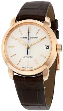 Ulysse Nardin Classico Lady Eggshell Dial Leather Strap Automatic Ladies Watch