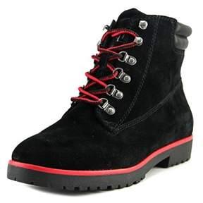 Lauren Ralph Lauren Mikelle Women Round Toe Suede Black Ankle Boot.