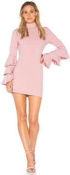 Susana Monaco Layered Ruffle Sleeve Dress
