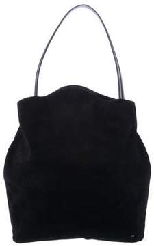 Halston Leather-Trimmed Suede Hobo