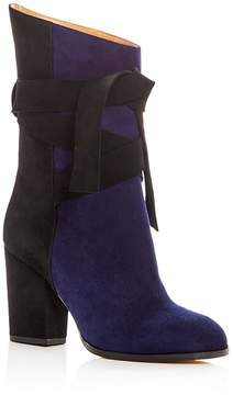 Alexa Wagner Women's Barbara Suede Color Block High Heel Boots