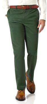 Charles Tyrwhitt Green Slim Fit Flat Front Washed Cotton Chino Pants Size W30 L30