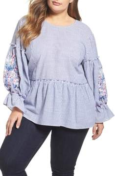 Caslon Embroidered Blouse