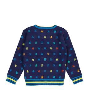 Petit Lem Arcade Game Emoji Sweater, Size 2-6X