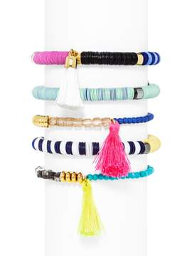 BaubleBar Cape Town Bracelet Set-Neon