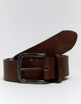 New Look Belt With Gunmetal Buckle In Brown
