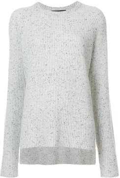 Baja East cashmere ribbed knitted top