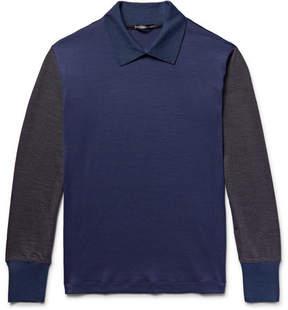 Issey Miyake Colour-Block Wool Sweater