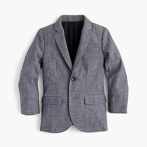 J.Crew Boys' Ludlow suit jacket in Japanese chambray