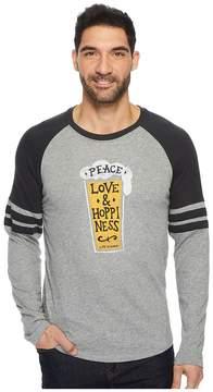 Life is Good Peace Love Hoppy Vintage Sport Long Sleeve Men's Long Sleeve Pullover