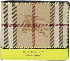 Burberry Haymarket Check International Wallet