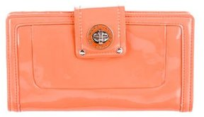 Marc by Marc Jacobs Patent Leather Wallet - ORANGE - STYLE