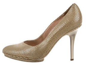 Calvin Klein Collection Metallic Laser Cut Pumps