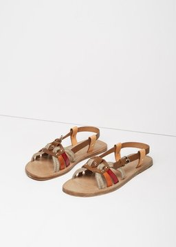 Etoile Isabel Marant Jeana Sandal Red & Gold Size: IT 37