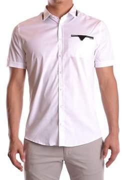 Les Hommes Men's White Cotton Shirt.