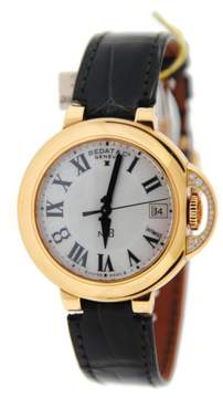 Bedat & Co 828.420.900 No.8 18K Rose Gold & Leather Diamond Automatic 36.5mm Womens Watch