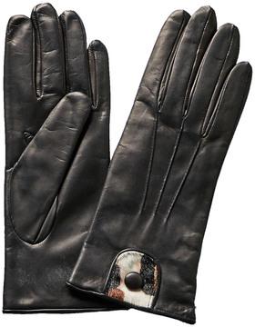 Portolano Black Cashmere-Lined Gloves