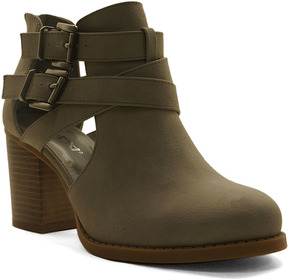 Soda Sunglasses Light Gray Buckle-Accent Scribe Bootie