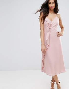 PrettyLittleThing Ruffle Midi Cami Dress