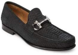 Salvatore Ferragamo Mason Python Bit Loafers