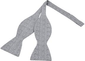 Forzieri Ceremony Gray Zig-Zag Woven Silk Self-tie Bowtie