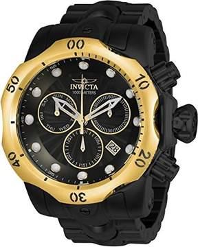 Invicta 23895 Men's Chrono Black Steel Bracelet Date Watch