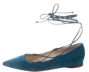 Michael Kors Suede Lace-Up Flats