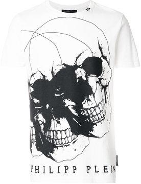 Philipp Plein double skull print T-shirt