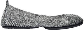 Yosi Samra Black & White Stella Leather Ballet Flat