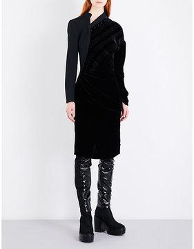 A.F.Vandevorst Drain asymmetric velvet dress