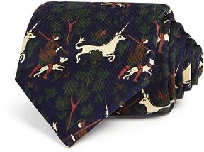 Drakes Drake's Unicorn Tapestry Print Classic Tie
