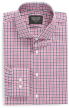 Nordstrom Check Print Trim Fit Dress Shirt