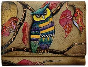 Anuschka Hand Painted Rfid Blocking Small Flap French Wallet |