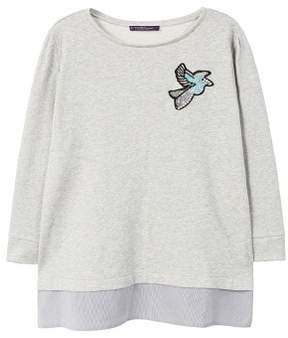 Violeta BY MANGO Appliqu?? shirt hem sweatshirt