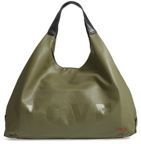 Peace Love World Slouchy Faux Leather Hobo - Green