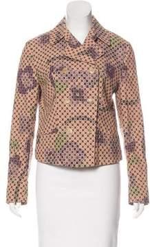 Dries Van Noten Printed Double-Breasted Jacket