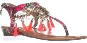 Thalia Sodi Ts35 Zella Demi-wedge Flat Sandals, Magenta.
