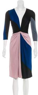 Issa Gathered Colorblock Dress