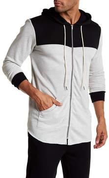 Kinetix Pico Colorblock Linen Blend Zip Hoodie