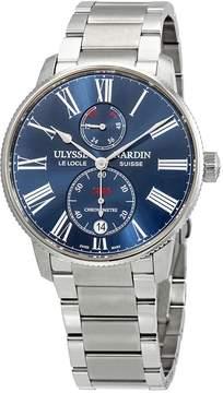 Ulysse Nardin Marine Chronometer Torpilleur Automatic Blue Dial Men's Watch