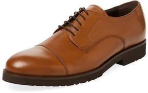 a. testoni Men's Cap-Toe Derby Shoe